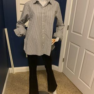 Gap Cross-Button Boyfriend Shirt SZ S NWT